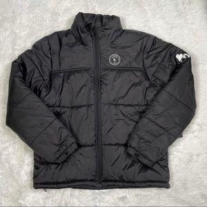 New Mens PRPS Puffer Jacket Size Large Black